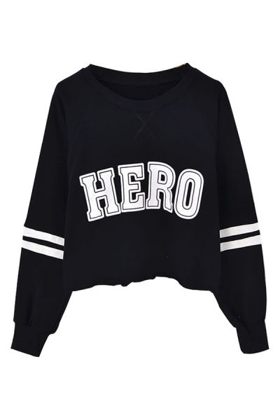 HERO Graphic Cropped Sweatshirt