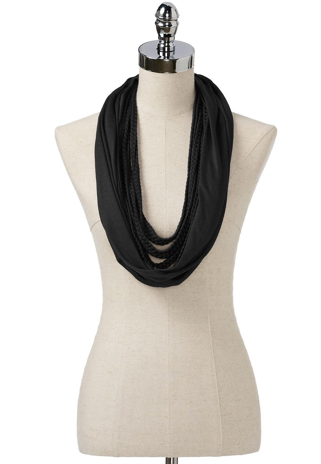 Braided Overlay Infinity Scarf Infinity Cato Fashions