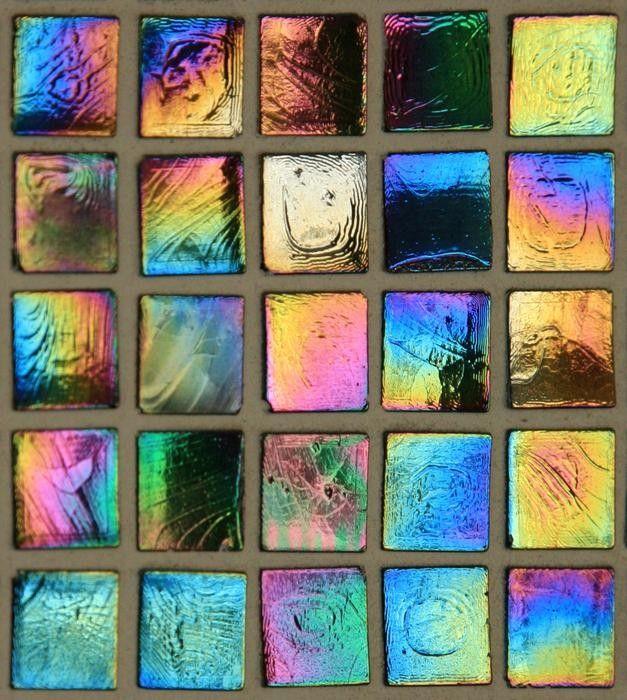Multi Colored Iridescent Glass Tile Wallpaper Iridescent Glass Tiles Tile Wallpaper Iridescent Tile