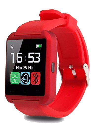Smartwatch U8 Color Rojo Bluetooth Reloj Inteligente - Compatible iOS    Android  Amazon.com.mx  Electrónicos ea4823e5bb8