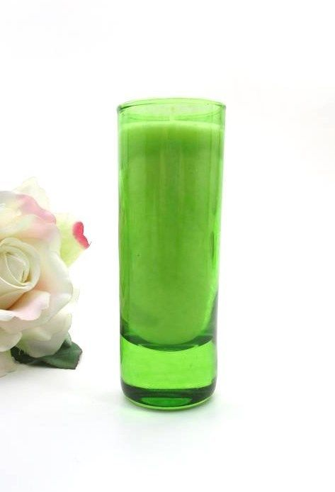 MIXTURE SCENTED SOY VOTIVE CANDLE ~ VAT 9 No. 22 ~ 2 oz LIME GREEN GLASS ~ NEW #Mixture