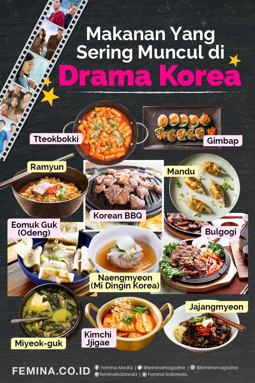 Makanan Makanan Yang Sering Muncul Di Drama Korea Makanan Resep Masakan Korea Resep Makanan Korea