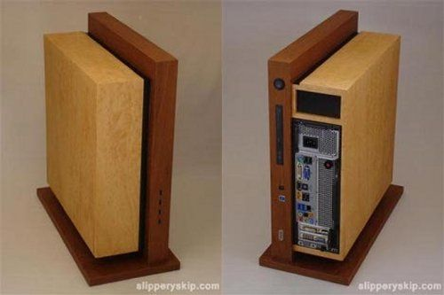 The Level Twelve casemod from Jeffrey Stephenson. Maple and Teak, I think I read. Powerful, too - it runs with an i7, so no complaints on that end.