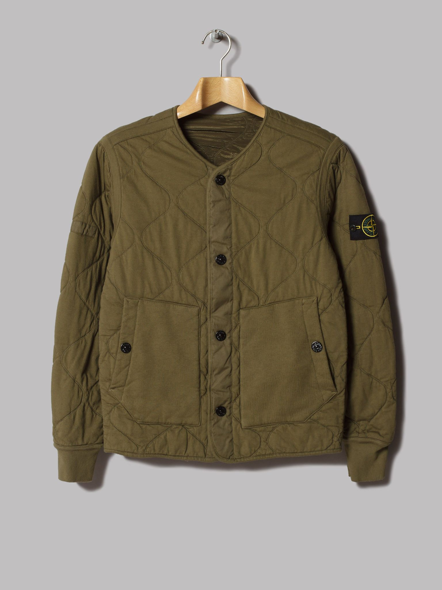 74bcb98238 Stone Island Reversible Quilted Nylon Metal Jacket (Verde Militare ...