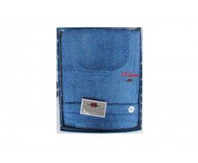 www.sconticasa.it  Accappatoio in spugna con scatola 100% cotone  Marcato El Charro  Colore Royal  Taglie disponibili S-M-L-XL