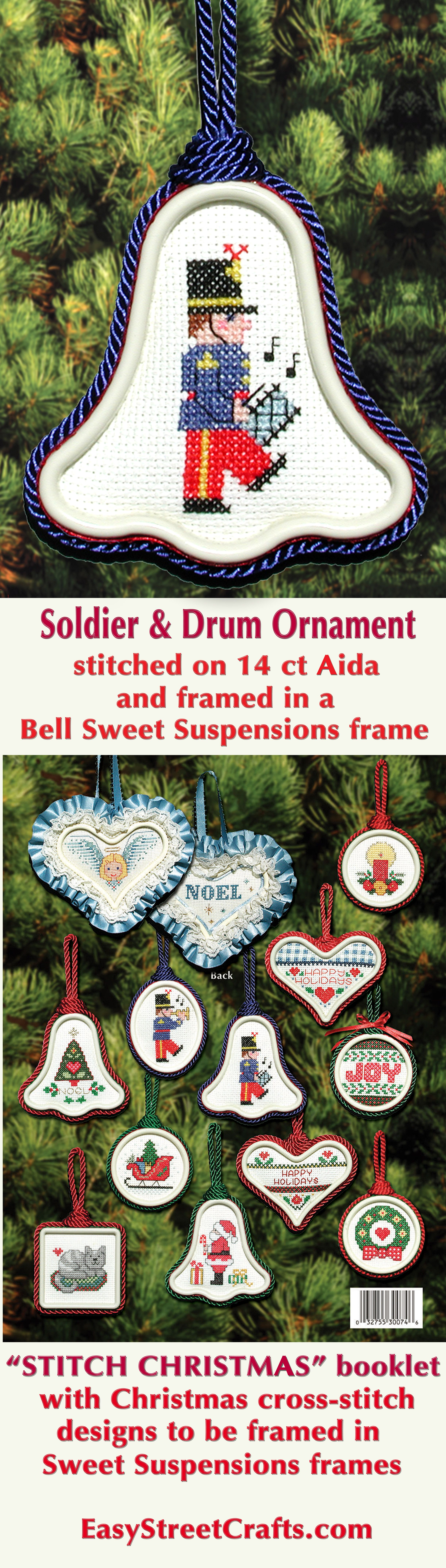 24 Easy to Stitch Christmas Cross-Stitch Designs to frame in Sweet ...