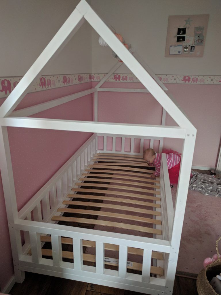 diy hausbett f r kinder basteln kinder bett haus hausbett und kinder bett. Black Bedroom Furniture Sets. Home Design Ideas