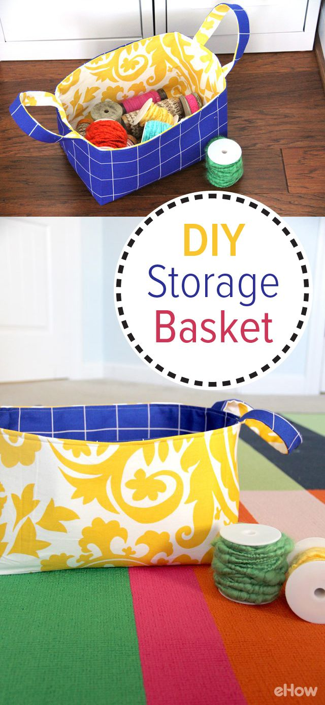Stoffen Mand How To Make A Reversible Fabric Storage Basket Creatief Met Stof