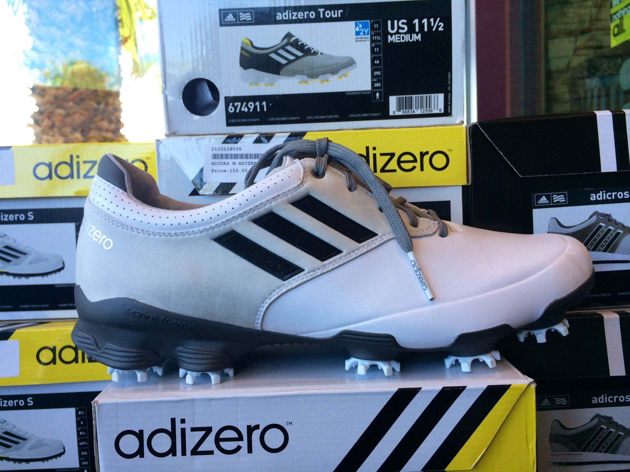 c5292b4bc6fa New Adizero Men's Golf Shoes. Available for purchase in the Desert Willow Golf  Shop #adidas #adizero #golfshoes #golfgear #desertwillow