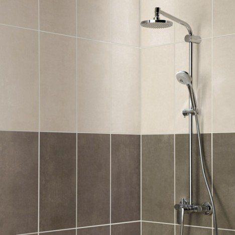 salle de bain carrelage mural smart artens en fa ence taupe 25 x 50 cm sdb pinterest. Black Bedroom Furniture Sets. Home Design Ideas