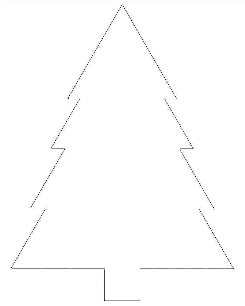 free printable christmas tree templates printables pinterest