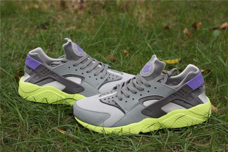 hot sale online 5660e 28a69 ... italy nike air huarache mens running shoes cool grey purple apple green  425a3 83b9f