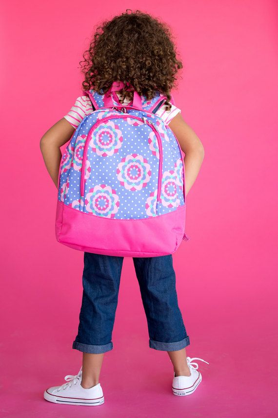 Zoey Monogrammed Backpack ~ Monogrammed Toddler Bag ~ Monogram Toddler Backpack ~ Monogrammed Girls Backpack ~ Personalized Toddler Backpack