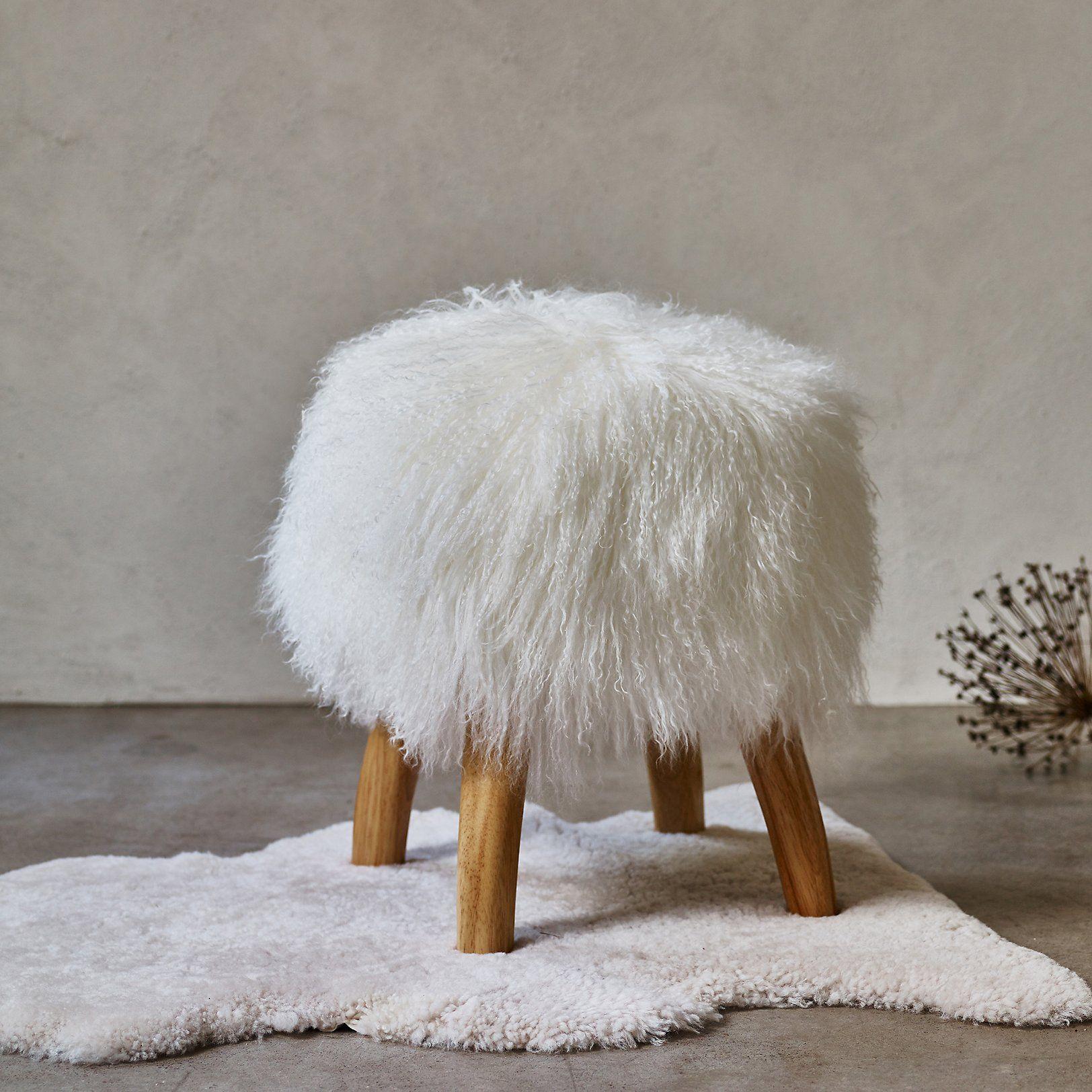 Tibetan Sheepskin Stool | Chairs, Benches & Stools | The ...