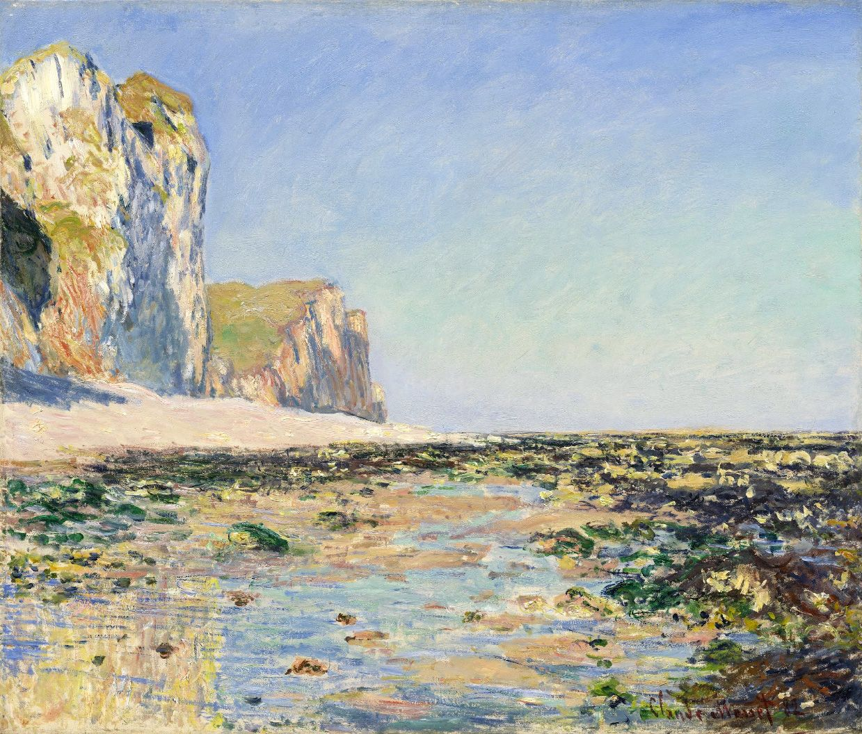 Claude Monet / Seashore and Cliffs of Pourville in the Morning. Dimensions: w71 x h59 cm