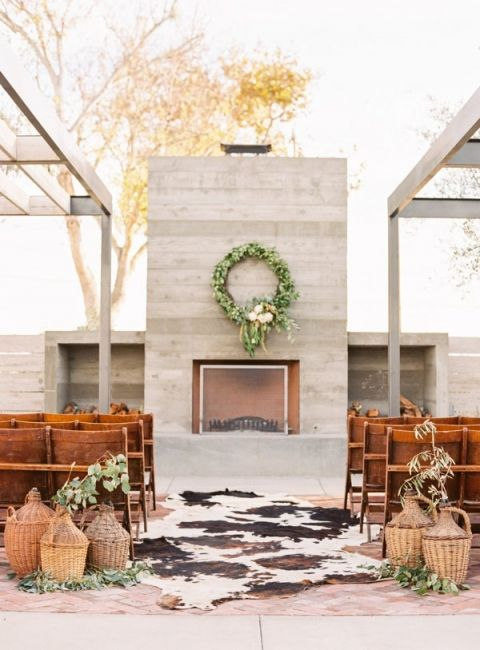 SoCal Chic Modern Ranch Wedding | Modern ranch, Ranch and Mid century