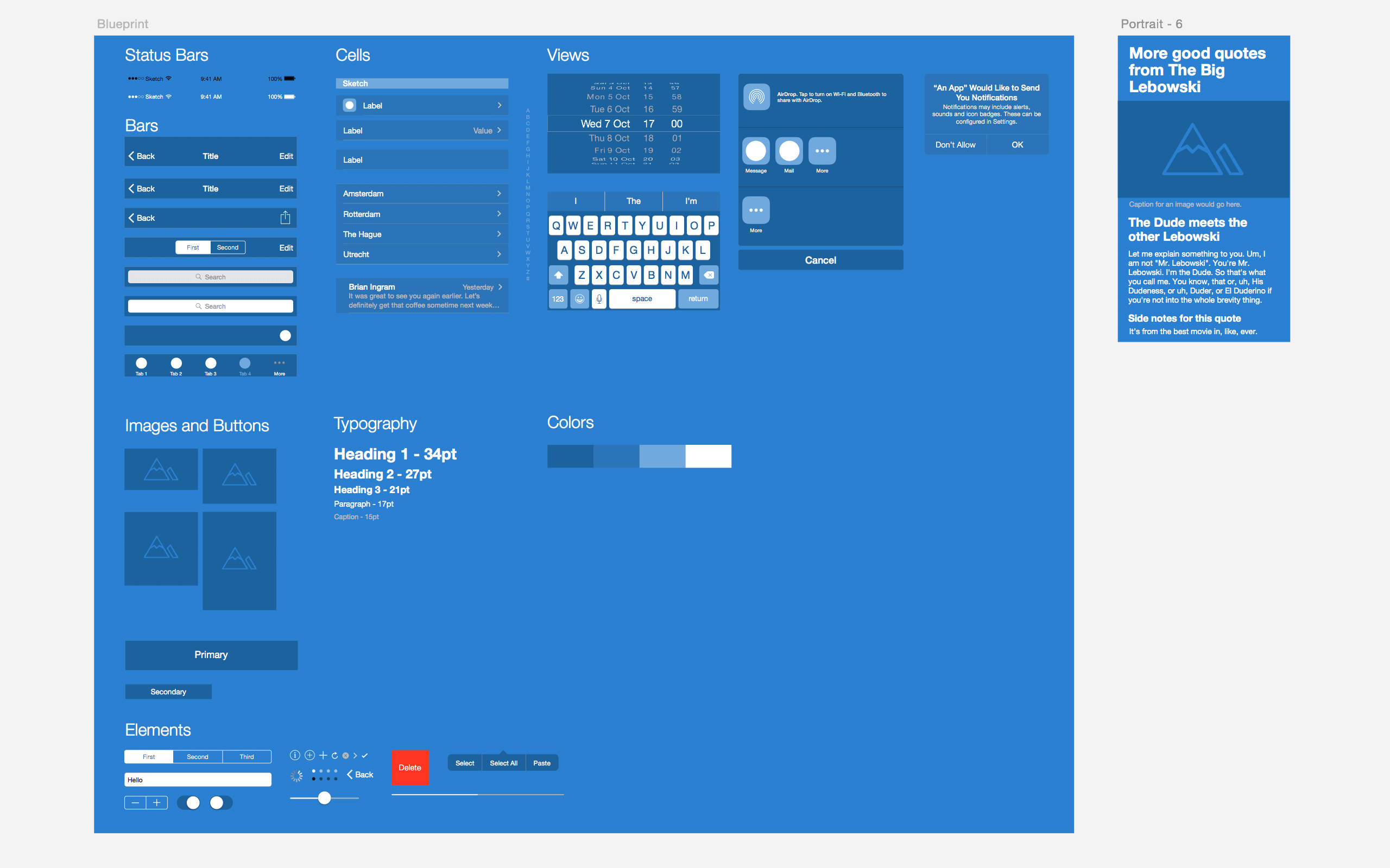 prototyping ios and android apps with sketch with a freebie