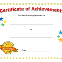 certificate of achievement for children  certificate of achievement | sertifikate | Pinterest | Certificate ...