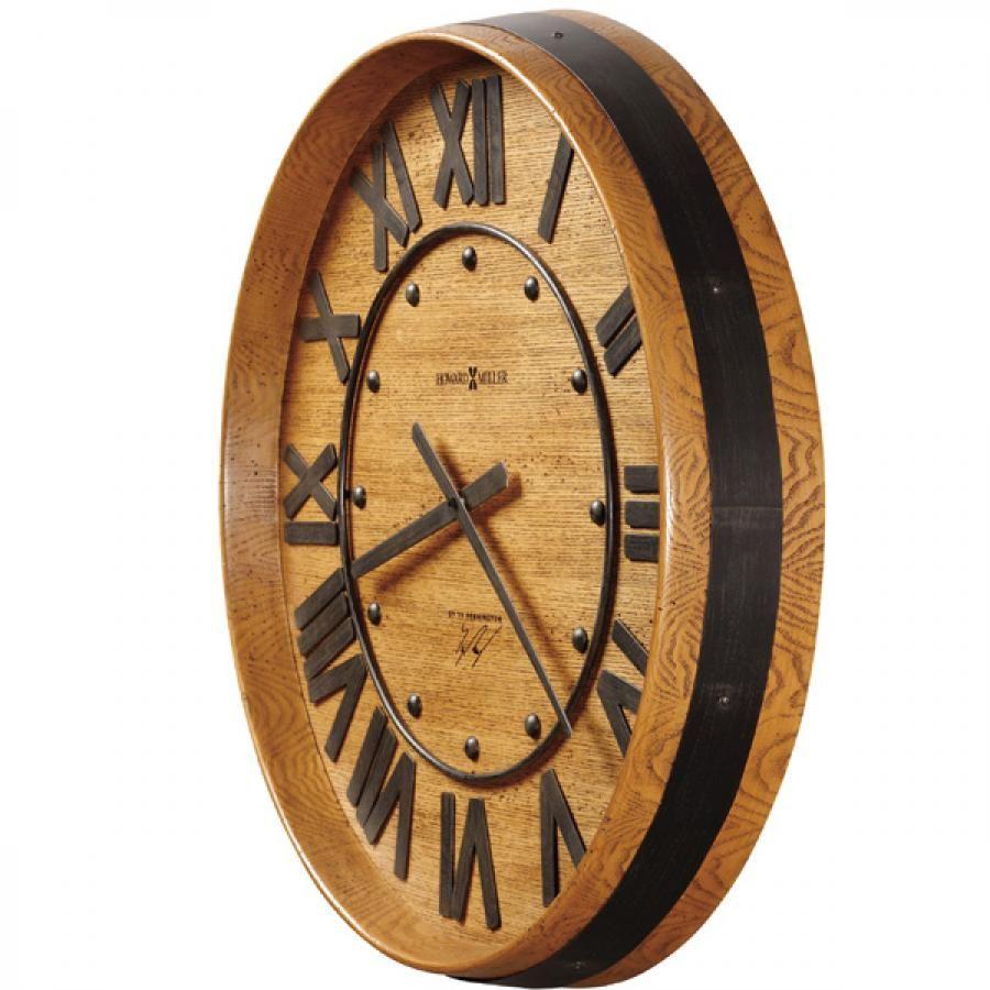 Clockway 25in Howard Miller Wine Barrel Wall Clock By Ty Pennington