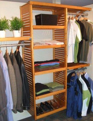 John Louis Home Honey Maple Deluxe 16 Deep Wood Closet In A Box Organizer