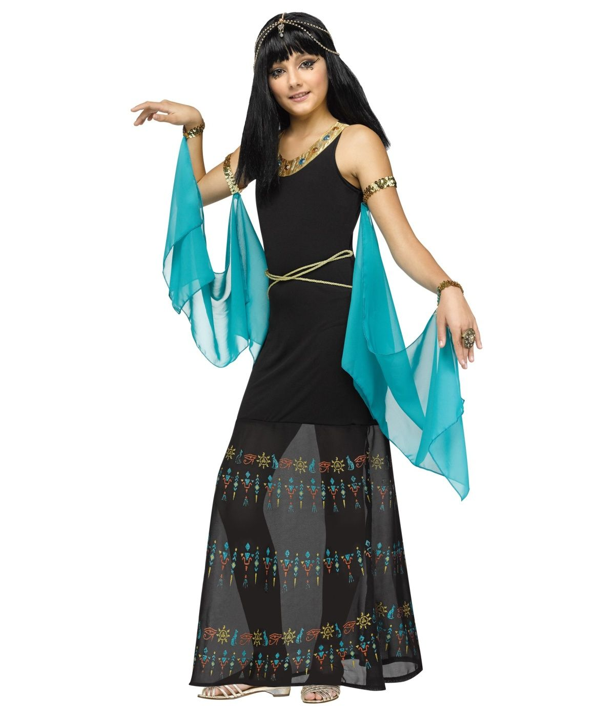 egyptian hieroglyph queen girls costume egyptian costumes - Egyptian Halloween Costumes For Kids