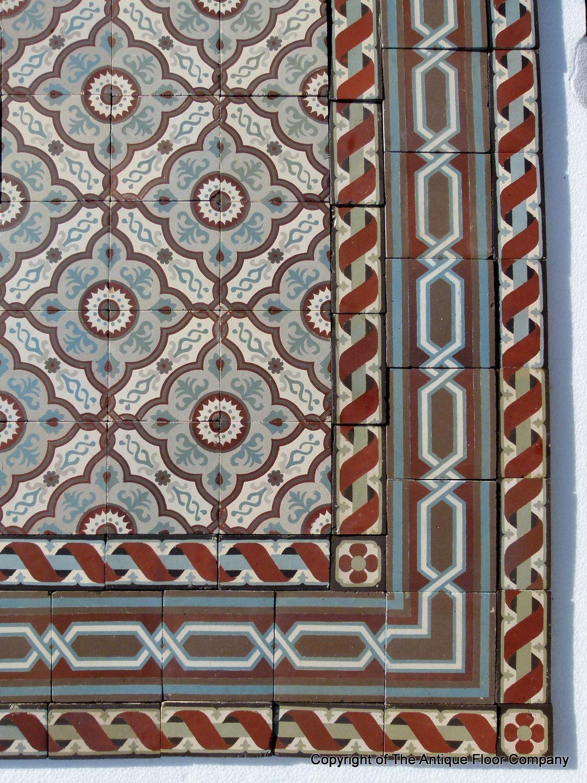 1325m2 140 sq ft antique french triple border ceramic floor c 140 sq ft antique french triple border ceramic floor the antique floor company doublecrazyfo Image collections