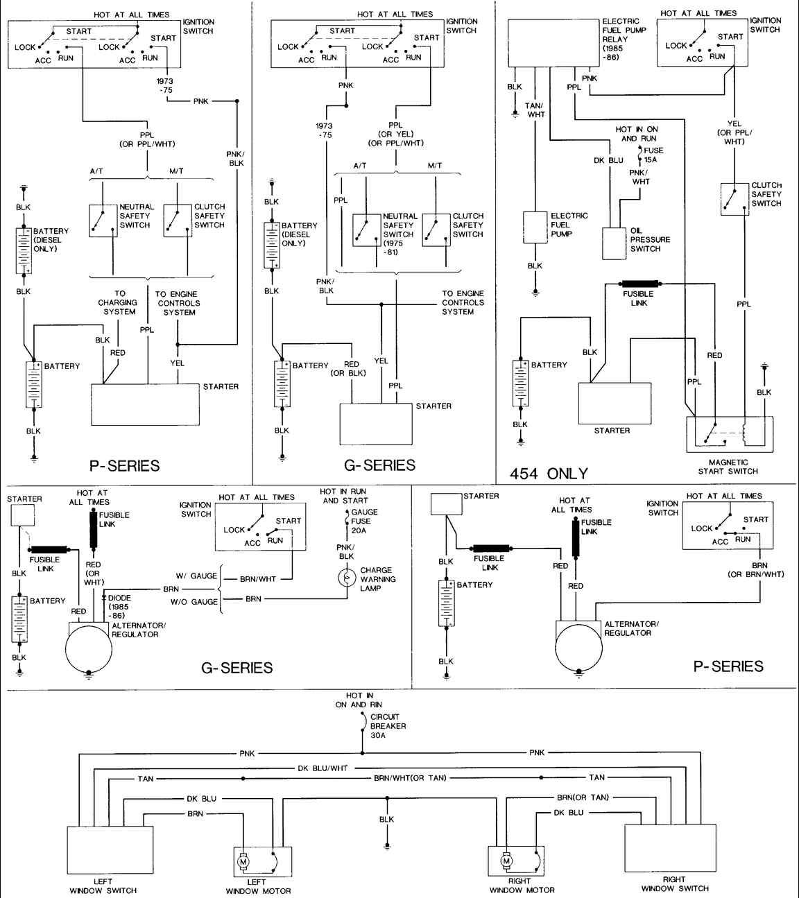 1984 Chevy Truck Alternator Wiring Diagram 2006 Gmc Sierra Bose Audio 85 Van The