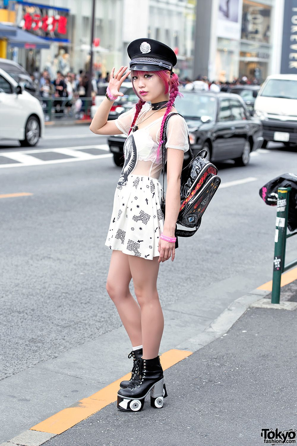 Pink Hair, Glad News Sheer Dress, Sretsis Roller S
