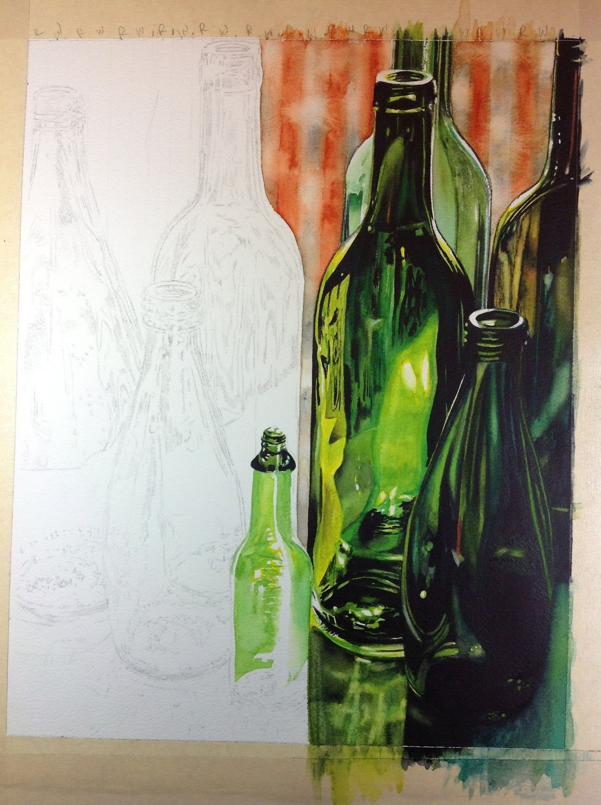 How To Paint Realistic Bottles By Carrie Waller Painting