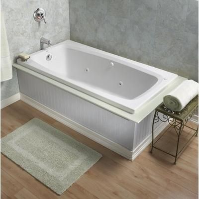 make your bathroom look by installing this robust american standard everclean reversible drain whirlpool tub in white - American Standard Tubs