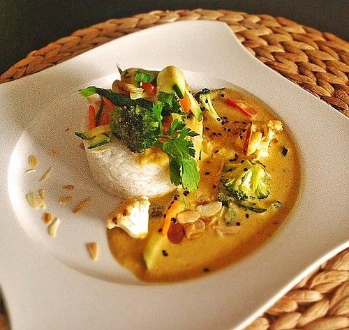 Thai Curry Erdnuss - Kokos - Hühnchen #thaifoodrecipes