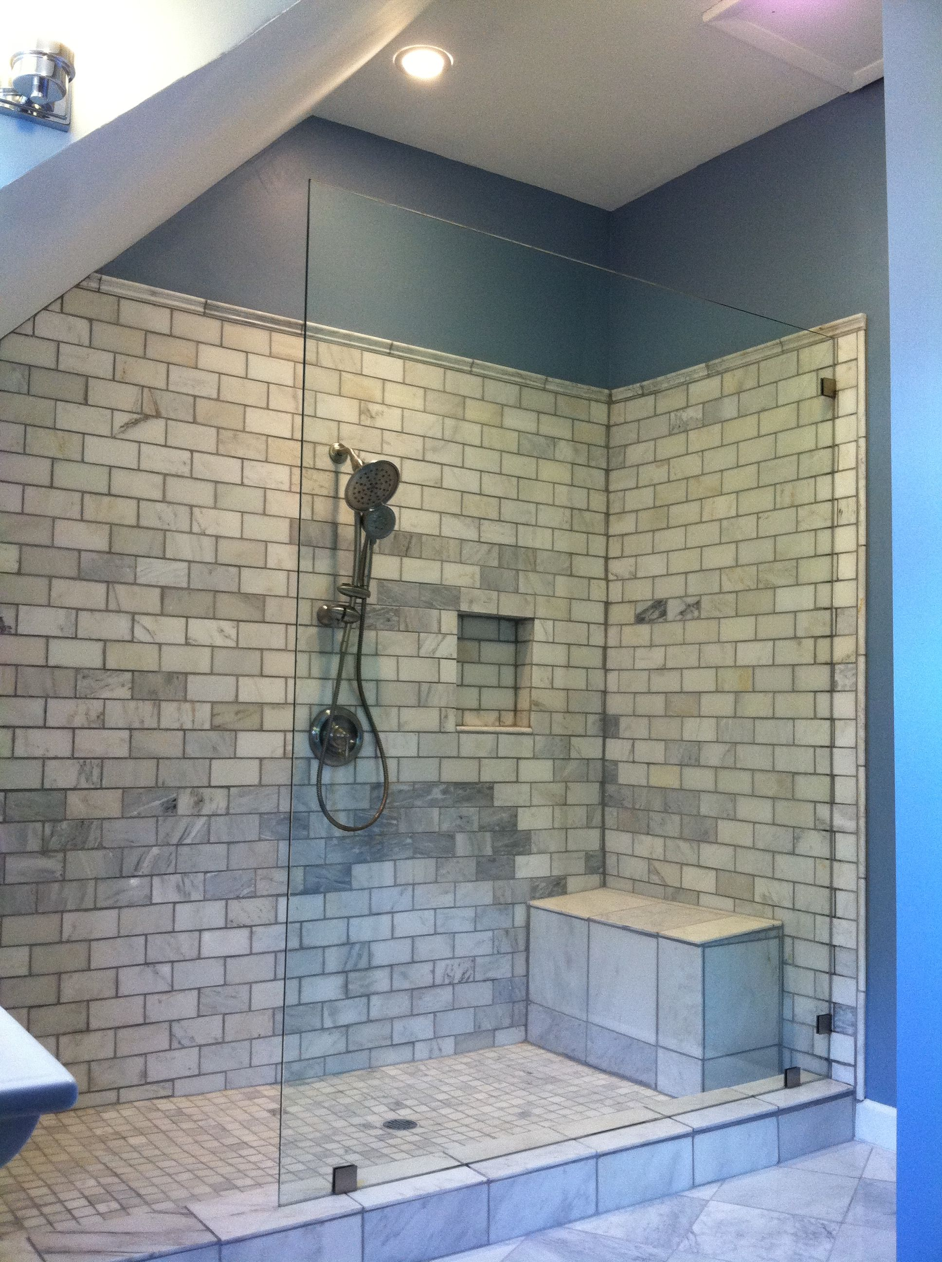 Shower Glass Installed by Allied Glass and Mirror Cincinnati