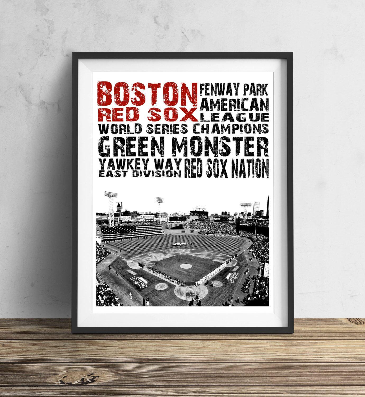 Boston Red Sox Fenway Park 11x14 Inches Baseball Stadium