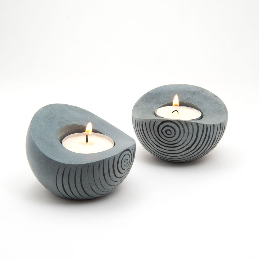 Set of palewa soapstone tea light holder india overstock