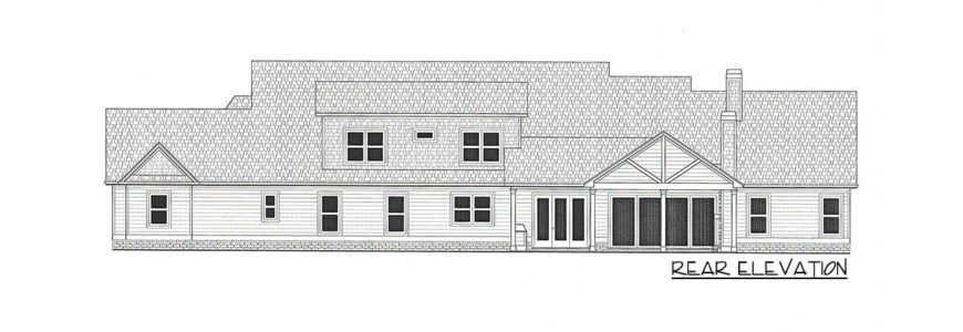 4 Bedroom Two Story Country Home for a Wide Lot with Angled Garage Floor Plan
