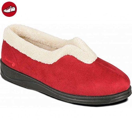 Damen Hausschuhe Rot rot, Rot - rot - Größe: 37 Padders
