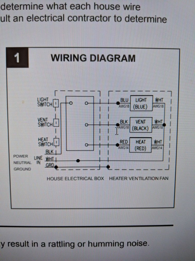 55 Inspirational Nutone Heater Fan Light Wiring Diagram in