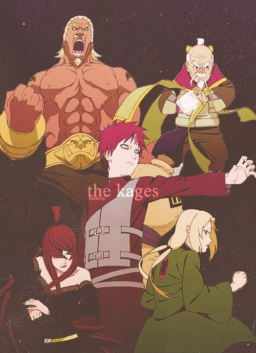 The Kages. #naruto