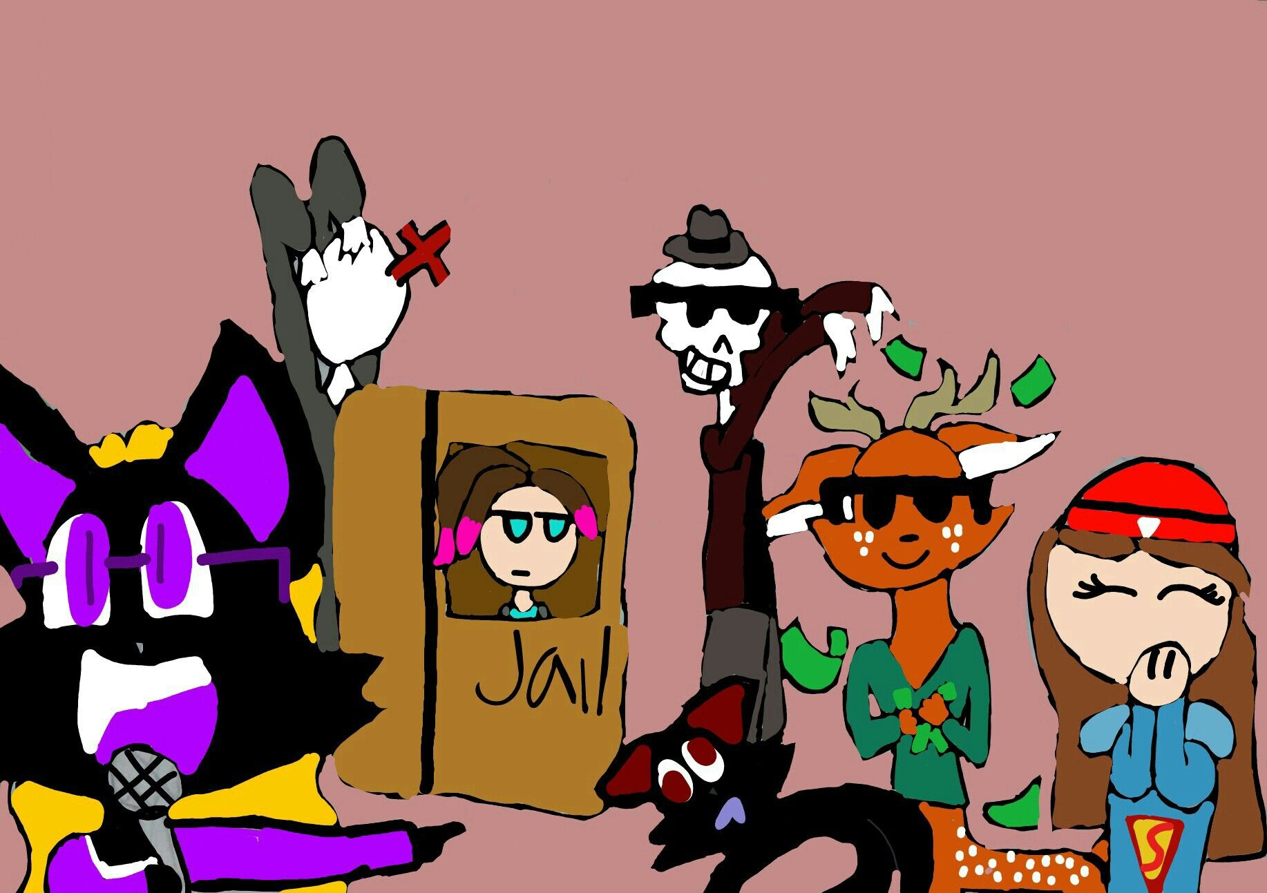 Bailey the Bat and her freinds having fun.