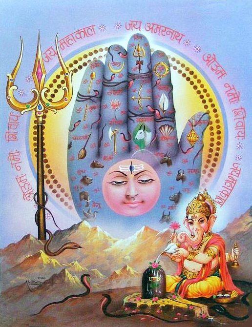 Ganesh Worships Shiva Lingam Lord Siva Pinterest