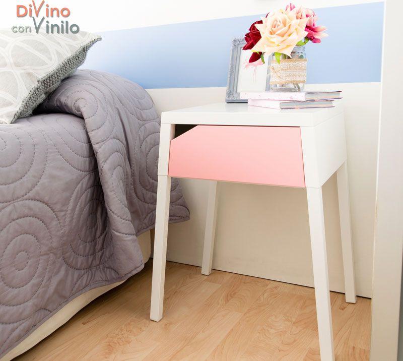 decorar con rosa cuarzo y azul serenity #vinilo #muebles #pared - muebles de pared