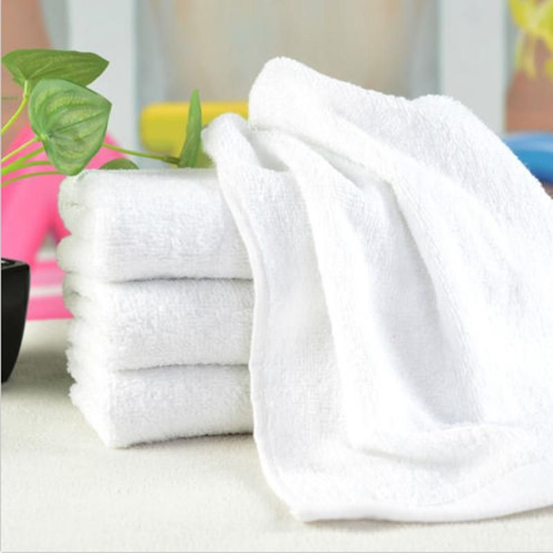 26 55cm Portable White Soft Microfiber Fabric Face Towel Hotel