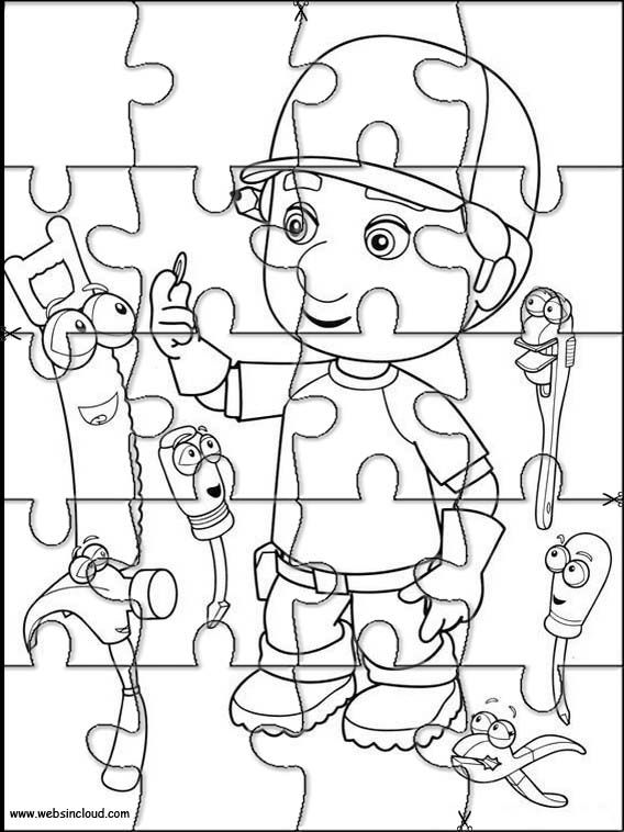 Printable jigsaw puzzles to cut out for kids Handy Manny 8
