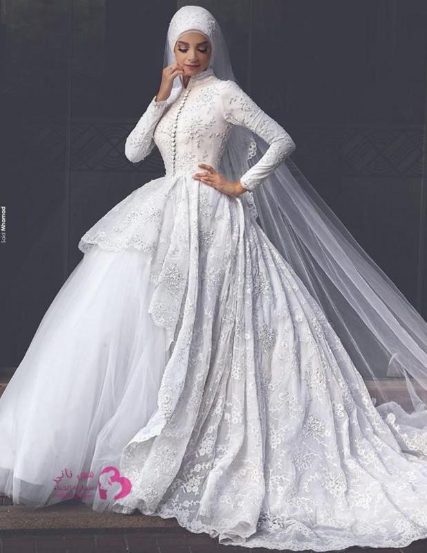 حصري تشكيلة فساتين زفاف للمحجبات فريدة من نوعها مس ناني نتشارك الحياة Muslim Wedding Dresses Modest Bridal Gowns Long Sleeve Wedding Dress Lace
