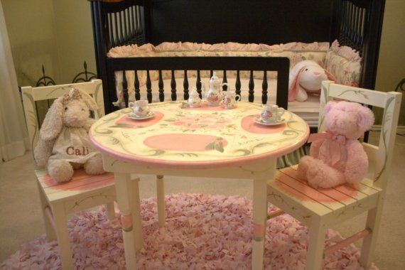 Children S Tea Table And Chair Set Hand Painted By Judyruedesigns 299 99