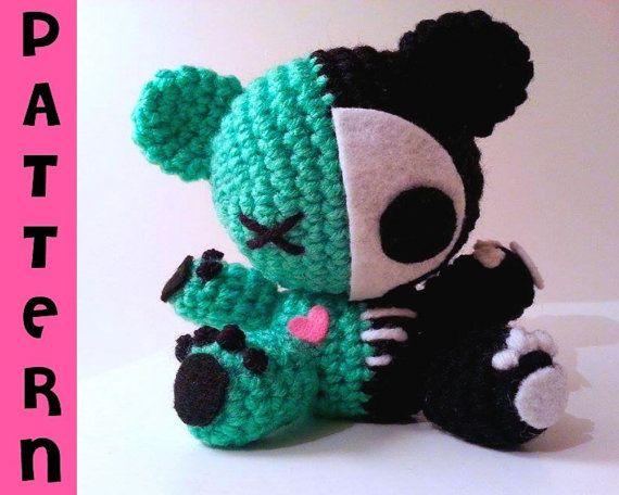 Amigurumi Magazine Pdf : Crochet pattern plush bear zombie amigurumi skeleton bear