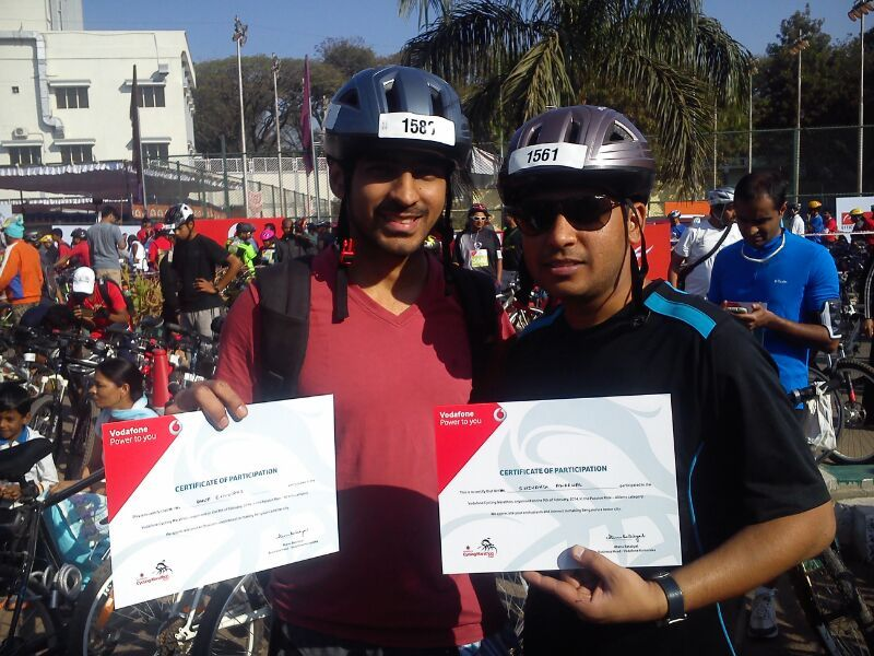 Congratulations to all the cycling enthusiasts from Genotypic for their wonderful participation in the Vodafone Cycling Marathon 2014. Proud to be part of the revolution for a cleaner and greener environment!