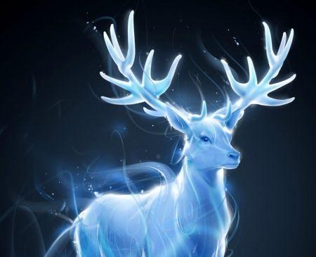 Deer Patronum Luminos Harry Potter Blue Patronus Fantasy Animal Deer Harry Potter Patronus Harry Potter Wand Harry Potter Creatures
