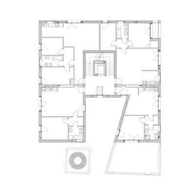 Edificio residenziale d area ex junghans cino zucchi for Software di piano terra residenziale