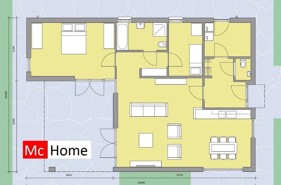 Mc Home Moderne Bungalow Plat Dak Energieneutraal Betaalbaar Bouwen B35